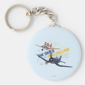 The Skies are Calling Basic Round Button Keychain