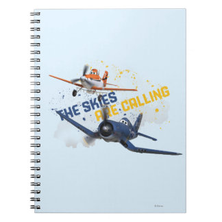 The Skies are Calling Spiral Note Book