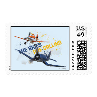 The Skies are Calling Postage Stamp