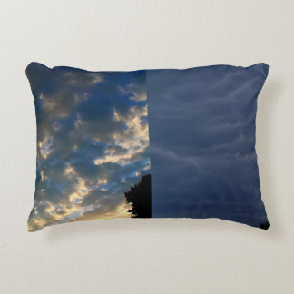 The Skies - Morning And Night - A Collage Accent Pillow