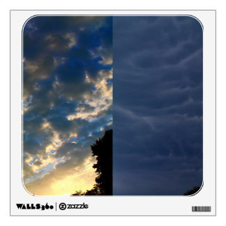 The Skies - Morning And Night - A Collage Wall Decal