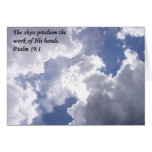 The skies proclaim the work of His hands Stationery Note Card