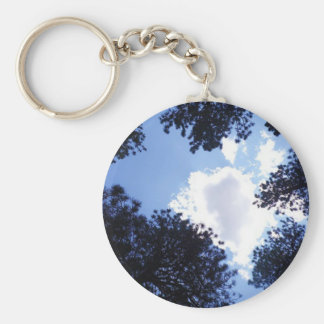 The Skies the Limit Basic Round Button Keychain