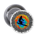 THE SKIING ADVENTURES 2 INCH ROUND BUTTON