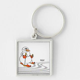 The Skiing Snowman - Keychain