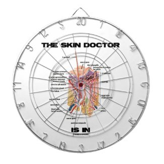 The Skin Doctor Is In (Anatomy Dermatology) Dartboard With Darts