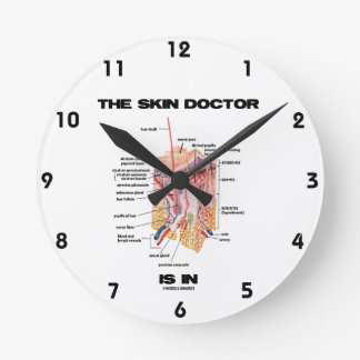 The Skin Doctor Is In (Anatomy Dermatology) Round Clock