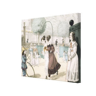 The Skipping Game, plate 115 from 'Le Bon Genre', Canvas Print