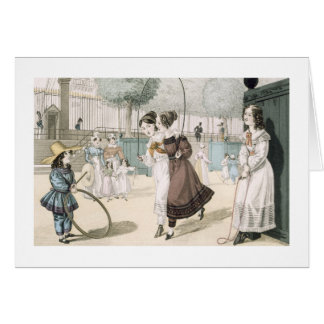 The Skipping Game, plate 115 from 'Le Bon Genre', Card