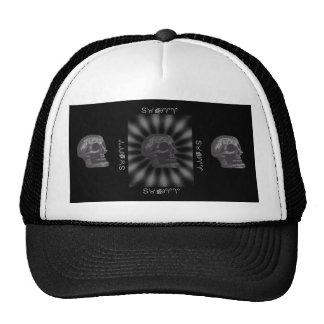 the SKULL! Black & White Rays 2 Mesh Hats