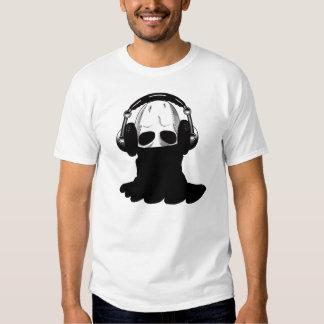 The Skull: Headphones & Black Turtleneck T Shirt
