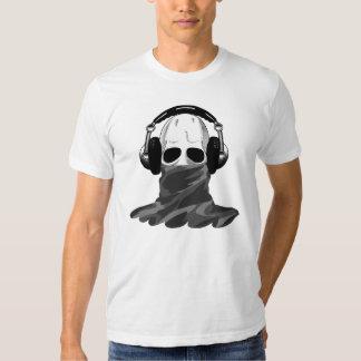 The Skull: Headphones & Camouflaged Turtleneck B T Shirt