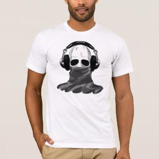 The Skull: Headphones & Camouflaged Turtleneck B T-Shirt