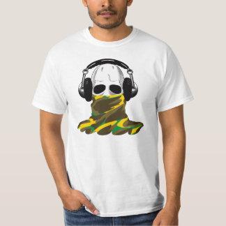 The Skull: Headphones & Camouflaged Turtleneck T Shirt