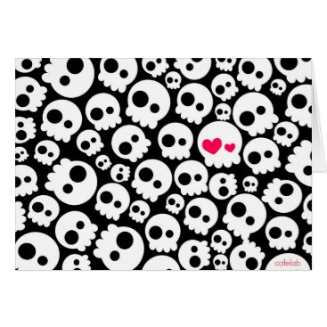 Halloween Themed The skull in love card
