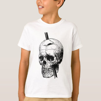 phineas gage skull. the skull of phineas gage t-shirt
