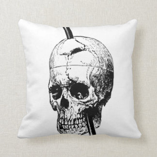 The Skull of Phineas Gage Throw Pillow