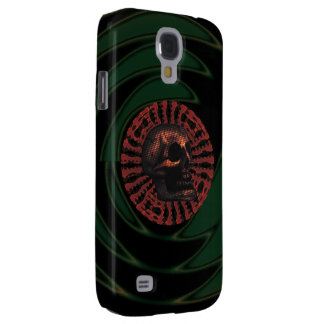 the Skull Red Circle Design Samsung Galaxy S4 Case