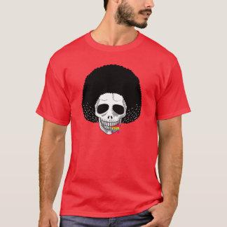 The Skull Smiley Afro Black Rainbow B T-Shirt