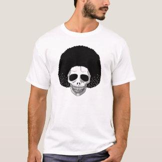 The Skull Smiley Afro Black T-Shirt