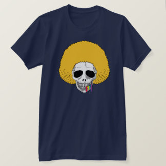The Skull Smiley Afro Blond Rainbow A T-Shirt