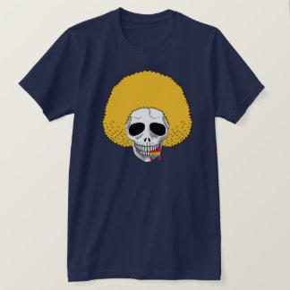 The Skull Smiley Afro Blond Rainbow B T-Shirt