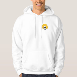The Skull Smiley Afro Blond Rainbow S Hoodie