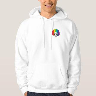 The Skull Smiley Afro Rainbow Rainbow A S Hoodie
