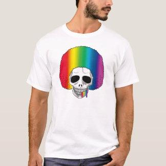 The Skull Smiley Afro Rainbow Rainbow A T-Shirt
