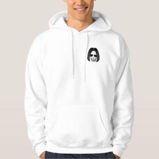 The Skull Smiley Bobed Hair Black Rainbow Hoodie
