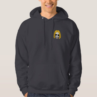 The Skull Smiley Bobed Hair Blond Rainbow S Hoodie
