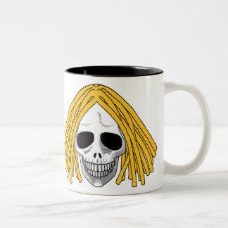 The Skull Smiley Dreadlocks Blond Mug