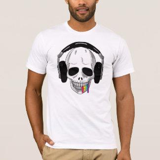 The Skull Smiley Headphones UP Rainbow A T-Shirt