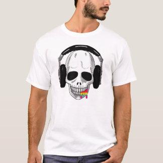 The Skull Smiley Headphones UP Rainbow B T-Shirt