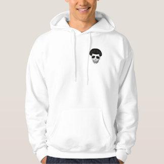 The Skull Smiley Mushroom Cut Black Hoodie