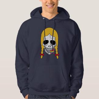 The Skull Smiley Pigtail Blond Rainbow B Hoodie