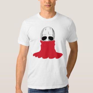The Skull Smiley Turtleneck/Poloneck Red T-shirt