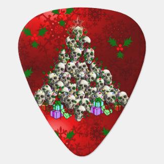 The Skulls of Christmas Guitar Pick