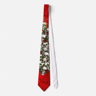 The Skulls of Christmas Neck Tie