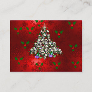 Atheist business cards zazzle the skulls of christmas business card colourmoves