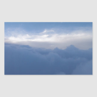 The Sky And The Clouds Rectangular Sticker