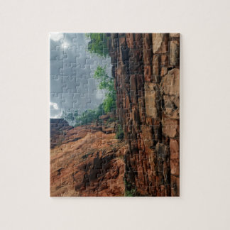 The Sky at Walters Wiggles Zion National Park Utah Puzzle