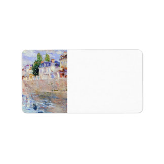The sky in Bougival by Berthe Morisot Custom Address Labels