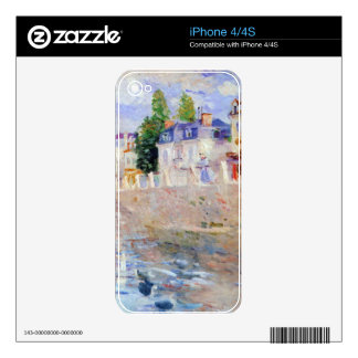 The sky in Bougival by Berthe Morisot Skin For iPhone 4