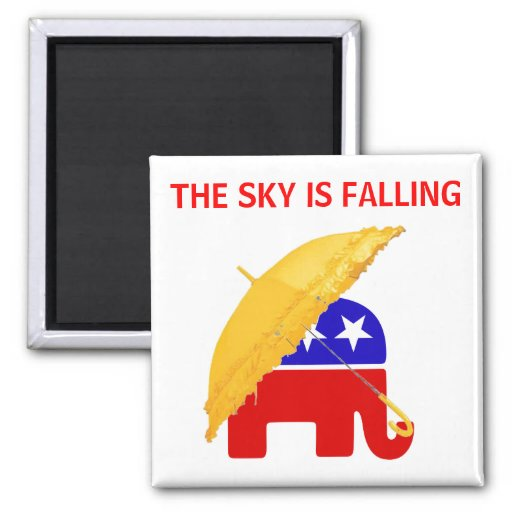 The Sky is Falling 2 Inch Square Magnet