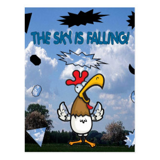 The Sky is Falling!!! Postcard