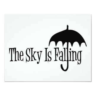 The Sky Is Falling Umbrella Black & White Card
