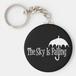 The Sky Is Falling Umbrella Black & White Keychain