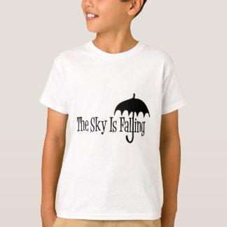 The Sky Is Falling Umbrella Black & White T-Shirt