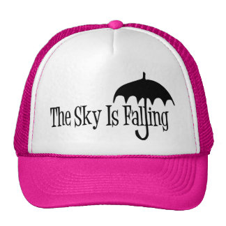 The Sky Is Falling Umbrella Black & White Trucker Hat